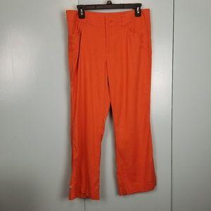 CAbi orange boot cut pants size 6 -C7